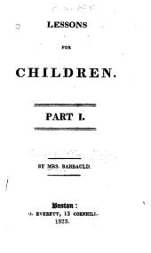 Lessons for Children: Parts 1-5