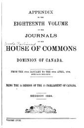 Journals of the House of Commons of the Dominion of Canada: Volume 18