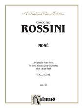Mose: Opera Vocal Score