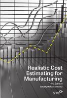 Realistic Cost Estimating for Manufacturing  3rd Edition PDF