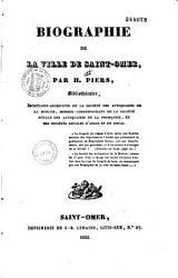 Biographie de la ville de Saint Omer PDF