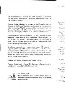 The Iowa Review PDF