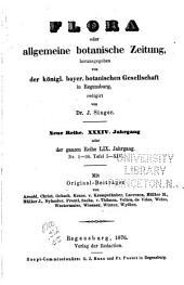 Flora, oder, Botanische Zeitung: welche Recensionen, Abhandlungen, Aufsätze, Neuigkeiten und Nachrichten, die Botanik betreffend, enthält, Band 59