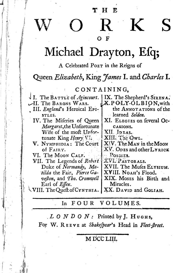 The Works of Michael Drayton, Esq