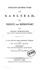 Untersuchung der Mineral-Wasser von Karlsbad, von Teplitz und Königswart