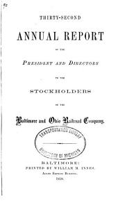 Annual Report of the President and Directors to the Stockholders of the Baltimore & Ohio Rail Road Company