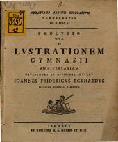 Horatiana artium liberalium commendatio l. II. Epist. VII.