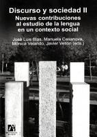 Discurso y sociedad II  Nuevas contribuciones al estudio de la lengua en un contexto social  PDF