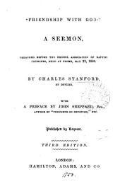 'Friendship with God', a sermon
