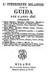 L' Interprete Milanese Ossia Guida: Per L' Anno, Volume 6