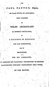 The Myvyrian Archaiology of Wales: Collected Out of Ancient Manuscripts, Volume 1