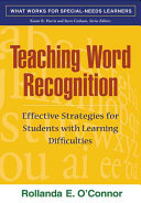 Teaching Word Recognition  First Edition PDF