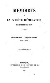 Mémoires de la Société d'émulation du Doubs: Volumes1859à1860