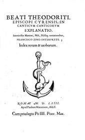 In Canticum Canticorum explanatio0