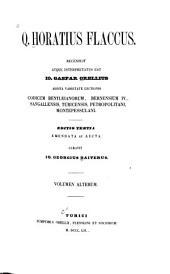Q. Horatius Flaccus. Recensuit atque interpretatus est Io. Gaspar Orellius: Volume 1