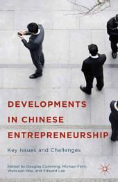 Developments in Chinese Entrepreneurship: Key Issues and Challenges