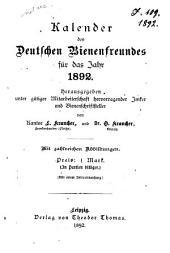 Kalender des Deutschen Bienenfreundes für das Jahr ...