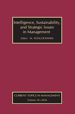 Intelligence  Sustainability  and Strategic Issues in Management