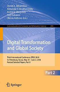 Digital Transformation and Global Society Book