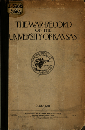 The War Record of the University of Kansas