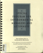 Special Program for Environmental Managers and Attorneys PDF
