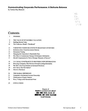 Communicating Corporate Performance PDF