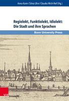 Regiolekt  Funktiolekt  Idiolekt  Die Stadt und ihre Sprachen PDF