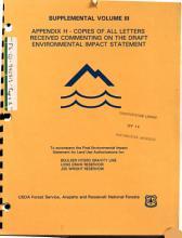 Arapho National Forest  N F    Roosevelt National Forest  N F    Joe Wright Reservoir  Land Use Authorization PDF