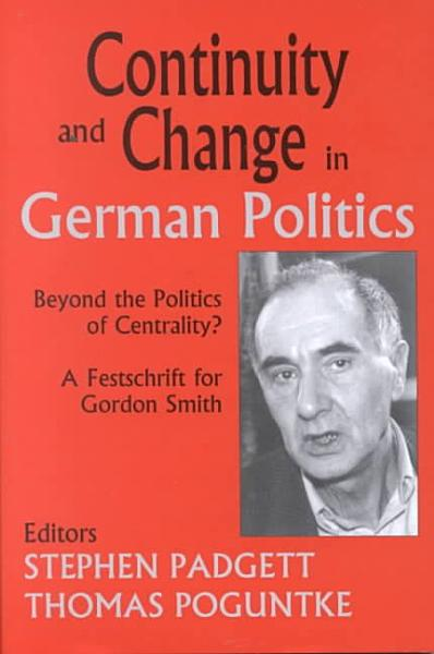 Continuity and Change in German Politics PDF