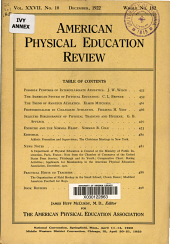 American Physical Education Review: Volume 27, Issue 10