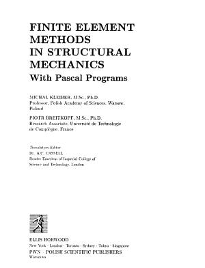 Finite Element Methods in Structural Mechanics PDF