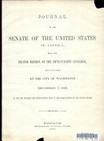 Journal of the Senate of the United States of America  Being the Second Session of the Fifty fourth Congress  Begun and Held at the City of Washington  December 7  1896 PDF