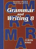 Saxon Grammar   Writing Grade 8 Teacher Packet PDF