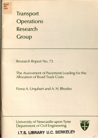 The Assessment of Pavement Loading for the Allocation of Road Track Costs