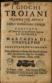 I Giochi troiani: dramma musica
