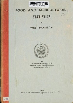 Food and Agricultural Statistics of West Pakistan PDF