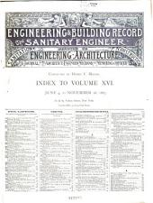 The Engineering Record, Building Record and Sanitary Engineer: Volume 16