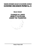 Changes in Labor Mobility in Poland Under the Transition PDF