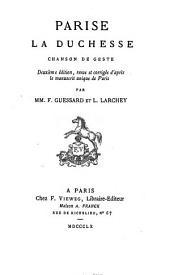 Parise la duchesse: chanson de geste