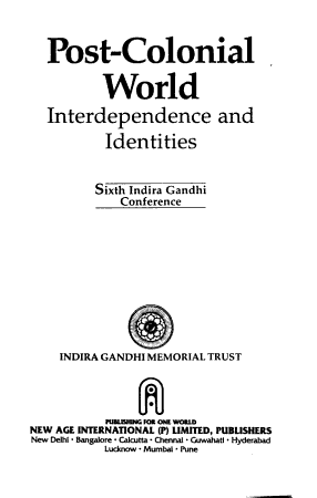 Post colonial World PDF