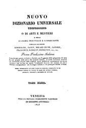 Nuovo dizionario universale tecnologico o di arti e mestieri e della economia industriale e commerciante compilato dai signori Lenormand, Payen, Molard Jeune... [et al.]: NIT-OEN, Volume 43
