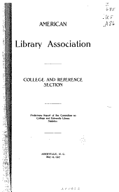 Preliminary Report of the Committee on College and University Library Statistics