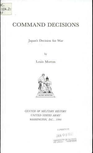 Japan's Decision for War