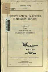 Senate Action On Hoover Commission Reports