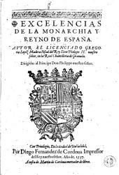 Excelencias de la monarchia y reyno de España