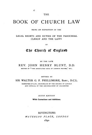 The Book of Church Law PDF