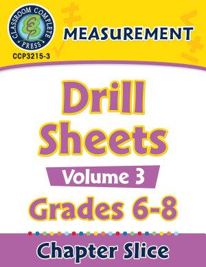Measurement   Drill Sheets Vol  3 Gr  6 8