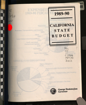 Budget Message of the Governor  Letter of Transmittal of the Director of Finance  Summary Statements  Budget Schedules and Charts from the California State Budget  Support and Local Assistance  Capital Outlay for the Fiscal Year     Submitted by     Governor to the California Legislature PDF