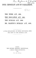 Four Important Acts of Parliament PDF
