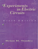 Experiments In Electric Circuits Book PDF